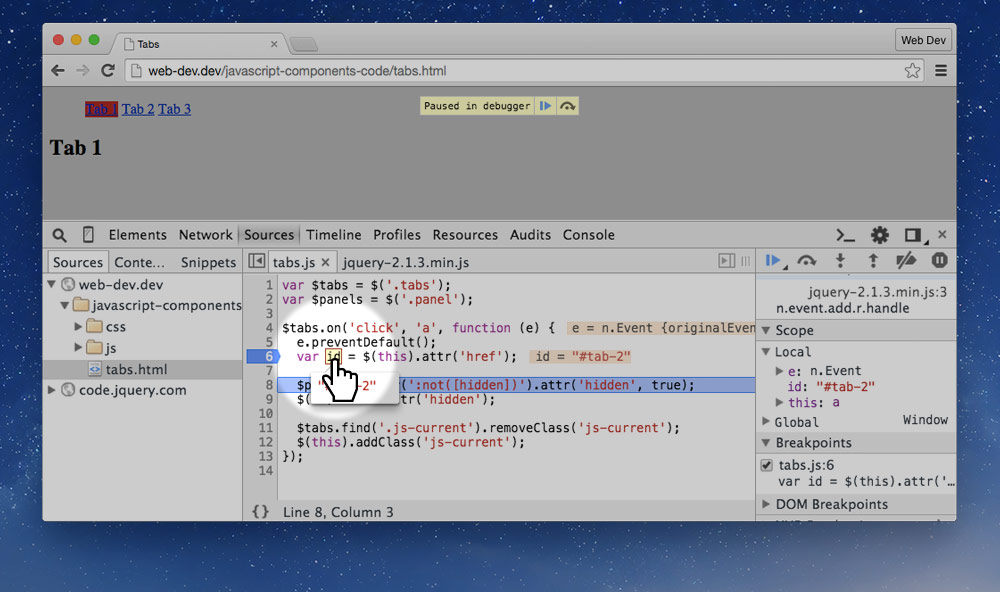 JavaScript debugging · Web Dev Topics · Learn the Web